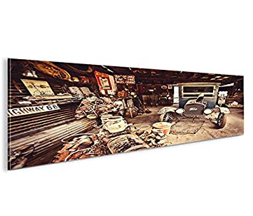 Islandburner Bild Bilder Auf Leinwand Alter Ford T Modell Route 66 Panorama  XXL Poster Leinwandbild