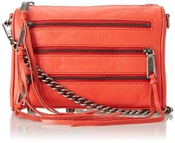 Rebecca Minkoff Mini 5-Zip Convertible Cross Body Bag,Hot Red,One Size