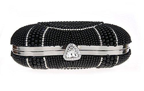 Soirée Perle à Main Sac Mariage Sac Sac Bandouliere Ankoee Bandouliere Noir Pochette q8Iw5