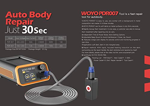 WOYO PDR007 PDR Tools Paintless Dent Repair Tool Induction Heater for Removing dents Auto Body Repair Tool by WOYO (Image #2)