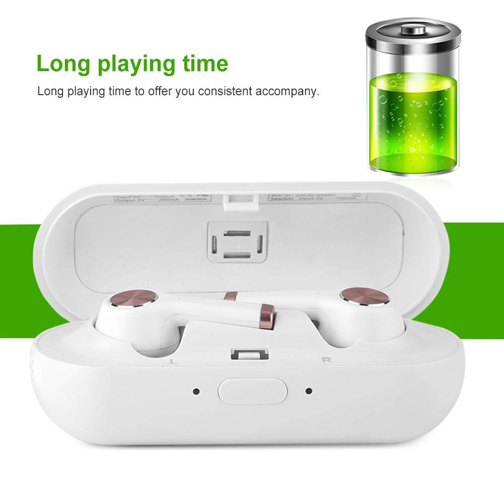 Translator Earbuds with Gift Charging Box,2 in 1 Bluetooth Headphone/ Real Time Wireless Language Translator Earphone Device Voice Translation Support 19 Languages Dual Mic & Noise Reduction(White) by fosa (Image #8)