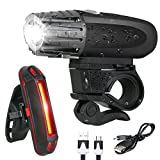 BESTSUN USB Rechargeable Bike Light Set, Super Bright Bike Headlight, Bike Front Lights and Back Safety Rear Flashlight, Easy Installation & IP65 Waterproof, for Kids Men Women Safe Cycling At Night For Sale
