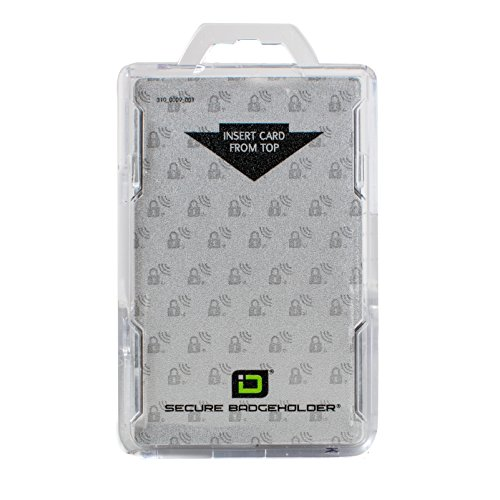 Identity Stronghold Secure Badge Holder Duolite, Clear (IDSH2004-001B-clr)