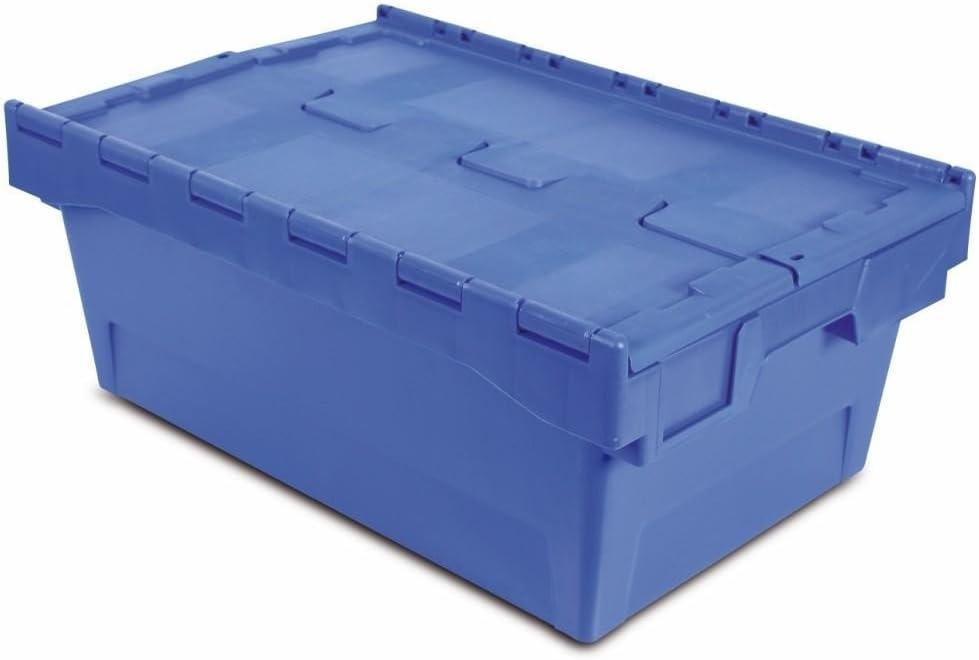 Tayg 6424-T Euro-caja con tapa para almacén y transporte, 600 X ...