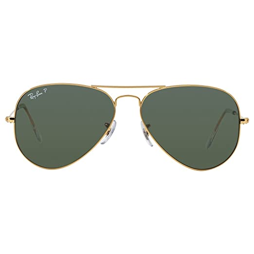 Amazon.com  Ray Ban RB3025 Aviator Sunglasses-001 58 Gold Gold (Green Polar  Lens)-58mm  RAY BAN  Shoes 2d5eb3a810