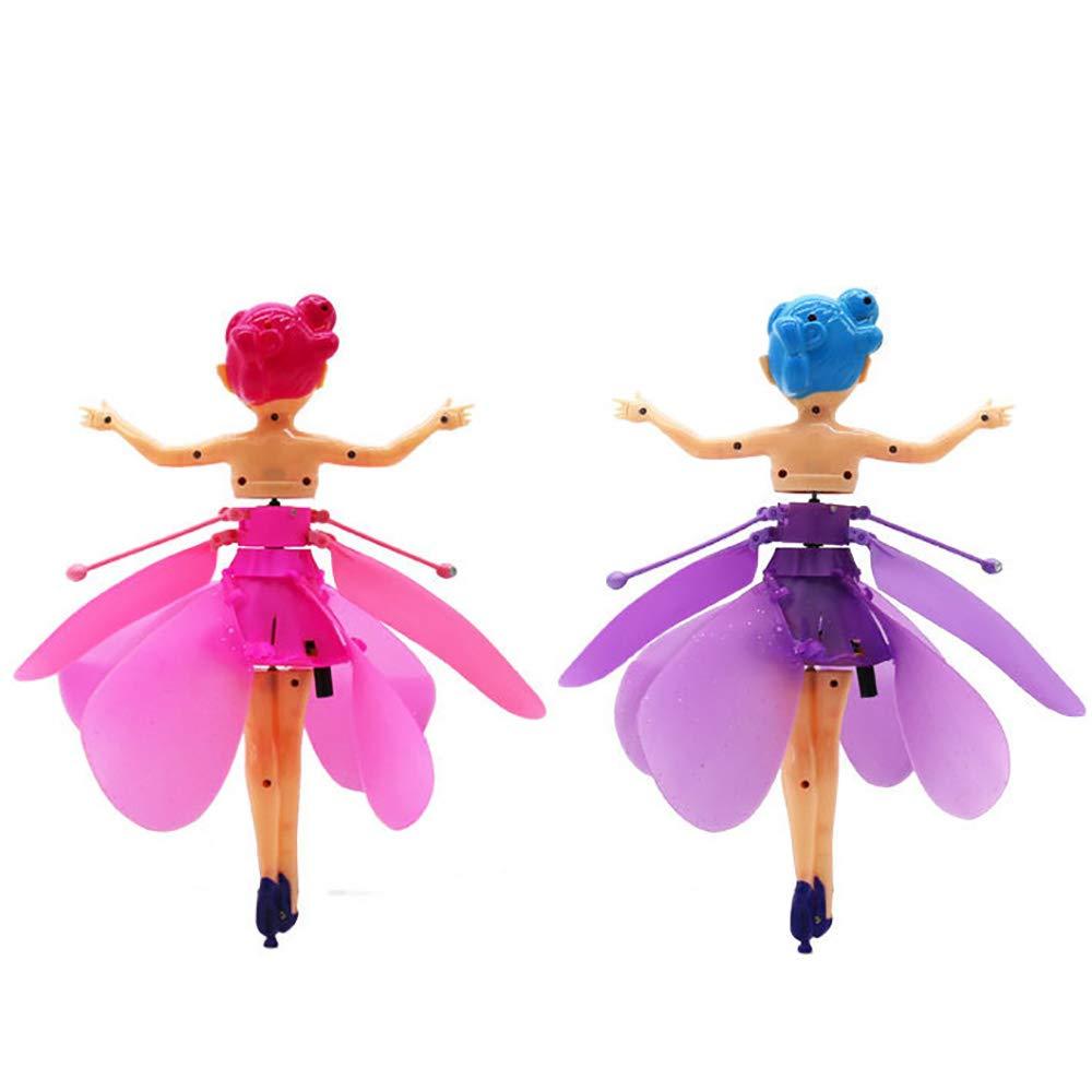 Dowoa Volador Mu/ñeca de Hadas de inducci/ón RC Airplane Kids Toy Ballet Girl Flying Princess Toy Gift para ni/ños mu/ñecas