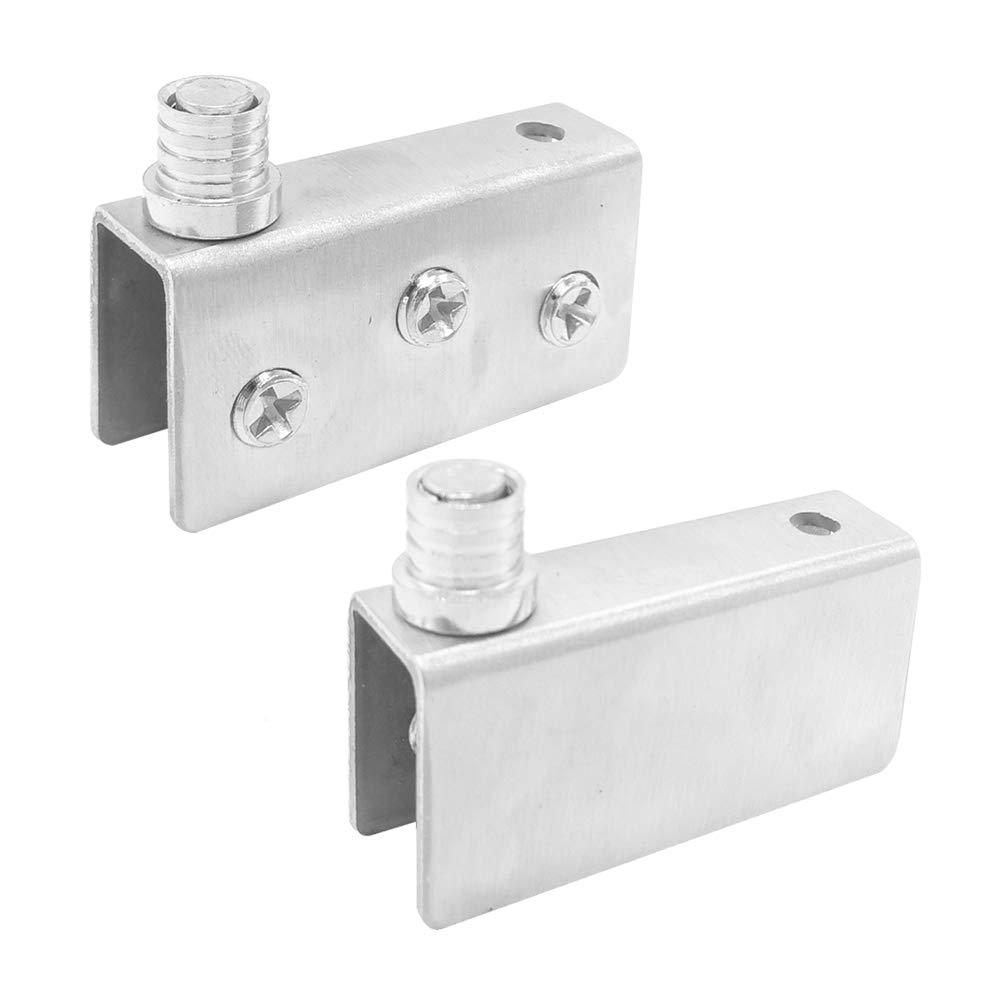 Pair 40x20x13mm Stainless Steel Alamic Glass Door Pivot Hinge for Free Swinging Glass Doors