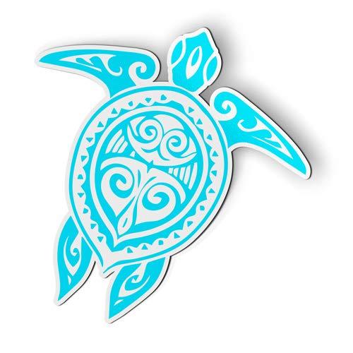AK Wall Art Sea Turtle Tattoo Design - Magnet - Car Fridge Locker - Select Size