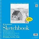 "Strathmore STR-27-110 30 Sheet Kids Spiral Sketch Book, 12 by 12"""