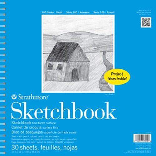 Strathmore 27-110 STR-27-110 30 Sheet Kids Spiral Sketch Book, 12