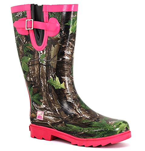 Women's Real Tree Outfitters, Ms Jo Jo Rain Boots CAMO PINK 9 M from Duck Head