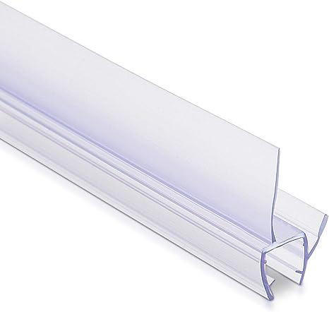 Navaris junta de recambio para ducha - Repuesto de PVC para puerta de cristal con grosor de 8MM con soporte de goteo en ángulo de 45 grados - 100CM: Amazon.es: Bricolaje y herramientas