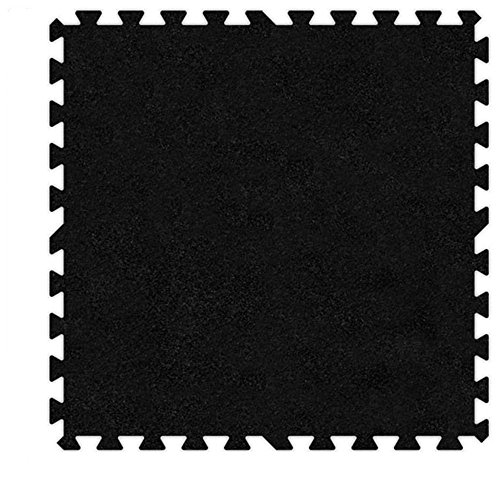 Alessco EVA Foam Rubber Interlocking Premium Soft Carpets 10' x 12' Set Black from Alessco