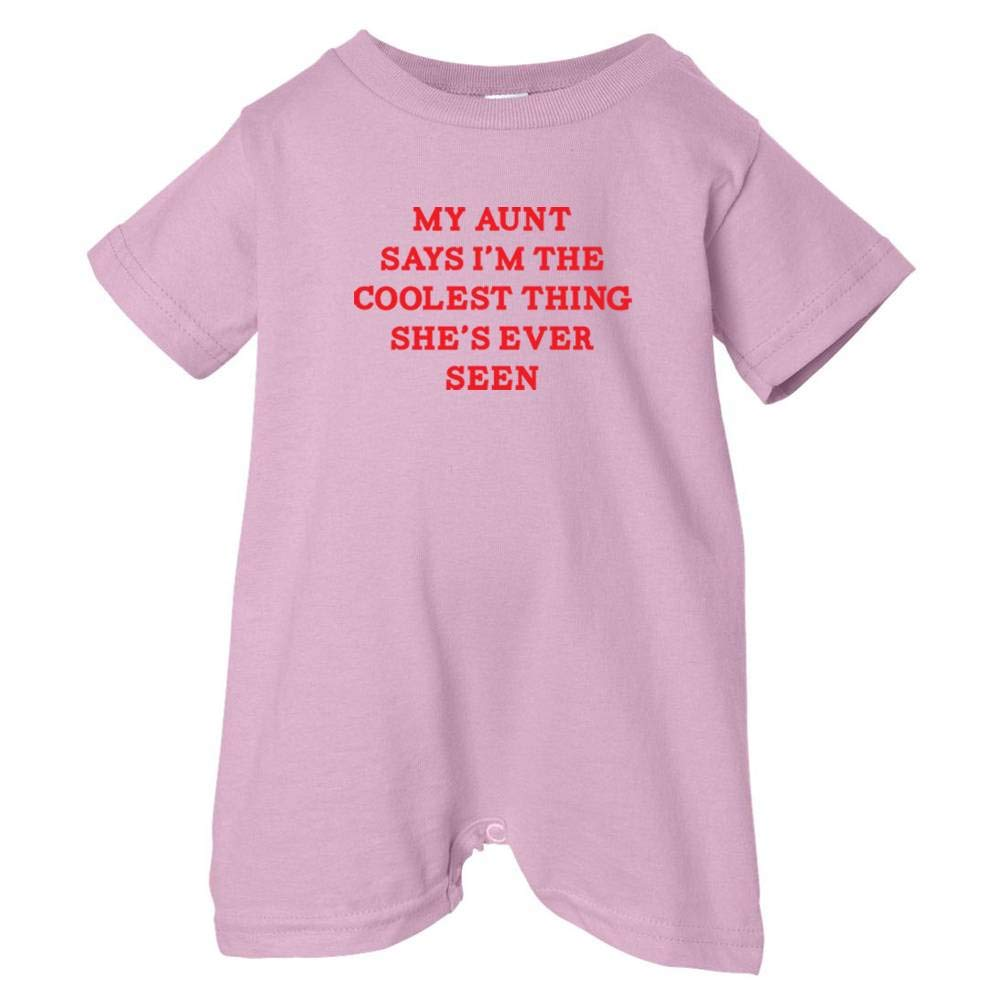 So Relative Unisex Baby My Aunt Says Im The Coolest T-Shirt Romper