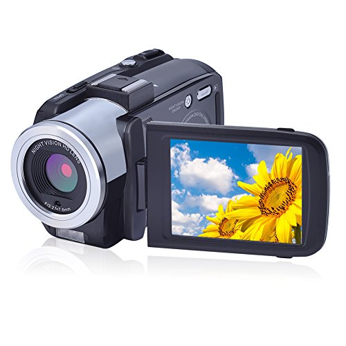 Camcorder Digital Camera Full HD 1080p 24.0MP Video Camera Vlogging Camera Night Vision HDMI Output Support Microphone DV 16X digital zoom