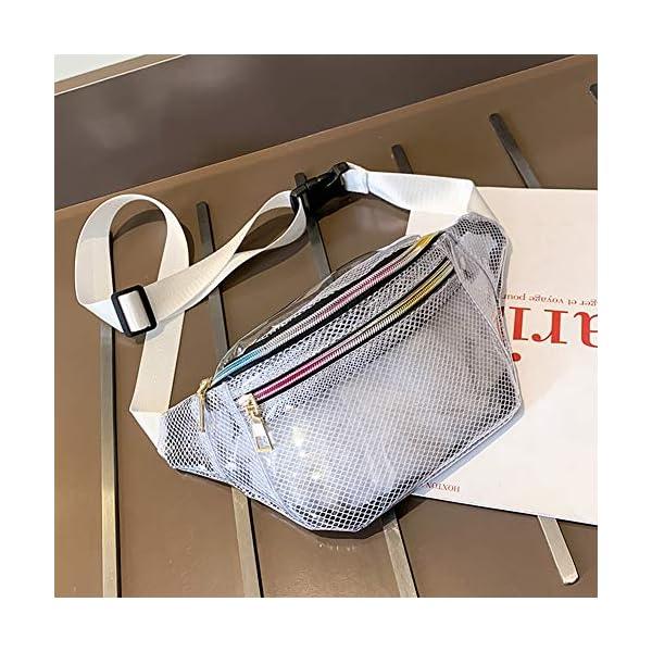 Geagodelia Unisex Marsupio Donna Marsupio Trasparente Impermeabile da Uomo con Cinturino Regolabile per Escursionismo… 2 spesavip
