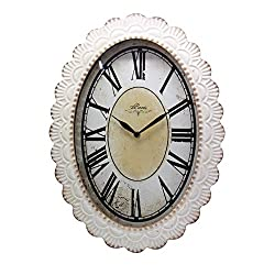 NIKKY HOME Paris Decor Wall Clock, 18 by 13 Inches, Off-white, Antique Reproduction