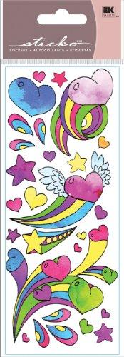 Ek Success Heart - EK Success Sticko Stickers, Girly Hearts