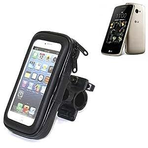 Montaje de la bici para LG Electronics K5, montaje del manillar para smartphones / teléfonos móviles, de aplicación universal. Conveniente para la bicicleta, motocicleta, quad, moto, etc. repelente al agua, a prueba de salpicaduras a prueba de lluvia, sostenedor del teléfono móvil de la bicicleta. | Bastidores de bicicletas Bikeholder bicicletas Navi titular titular GPS Pannier LG Electronics K5 manillar montar la caja al aire libre
