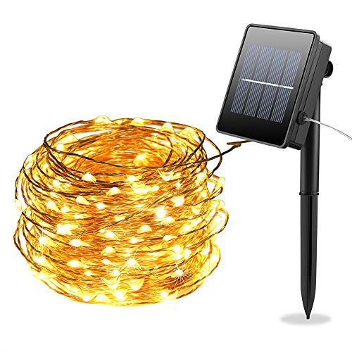 100 Led Solar Powered Fairy Lights in US - 3