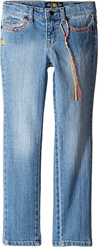 Zoe Jeans (Lucky Brand Kids Girl's Zoe Jeans w/Embroidery (Little Kids) Monterey Wash 5 Little Kids)