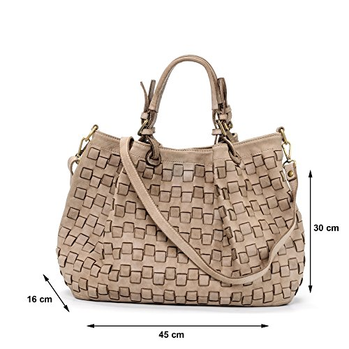 Modelo Vintage Bolso in Italy Piel del mujer para Camello Made Valle Caraibica genuina Ira CSHwqxT8n