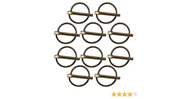 PN01 Pack of 10 Universal Lynch Pins w//Dimensions 3//16 OD x 1 1//4 Length