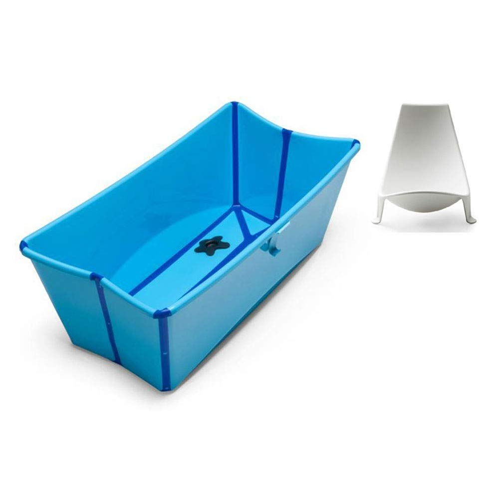 High Capacity Foldable Bathtub Quality PP Material can accommodate 39L Water Home Bath Barrel 0-4 Years Old Suitable for Thickening Bathing Bucket(Five Colors Optional) (Color : Blue) by SX1560