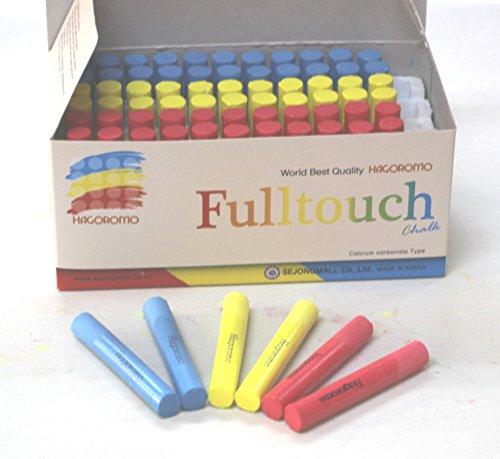 Hagoromo Fulltouch 3-Color Mix Chalk 1Box (72pcs) Red, Yellow, Blue by Hagoromo (Image #1)