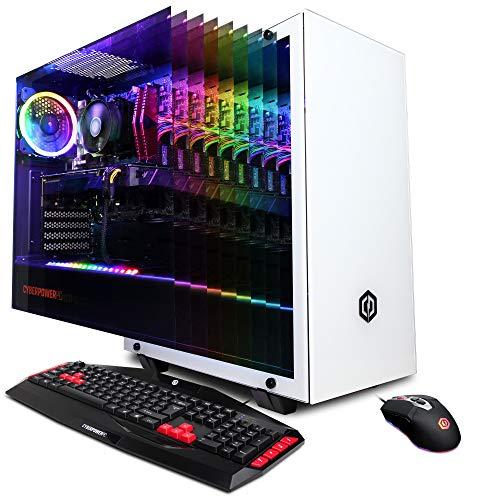 CyberpowerPC Gamer Master Gaming PC, AMD Ryzen 5 3600 3.6GHz CPU, NVIDIA GeForce GTX 1660 6GB, 16GB DDR4, 512GB Pci-E Nvme SSD, WiFi Ready & Win 10 Home (GMA1400A, White)