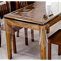Linens And More Clear Plastic Tablecloth PVC Transparent- Perfectly Protect Your Table (54''X 54'' Square)
