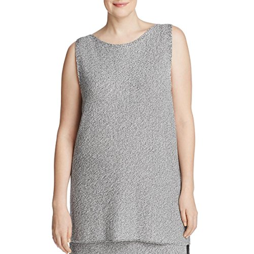 Eileen Fisher Womens Plus Sleeveless Shell Casual Top Gray 3X by Eileen Fisher