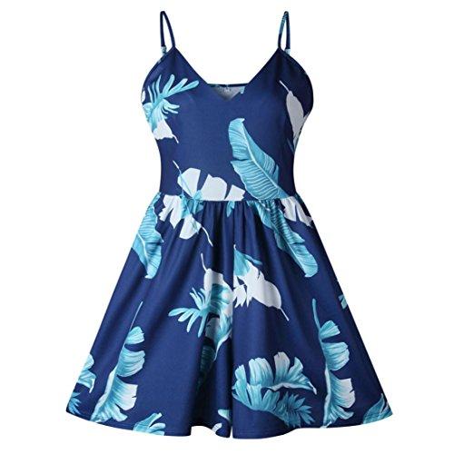 Femmes Lâche Bretelles Adeshop Rompers Jumpsuit Playsuit Mini Summer Shorts Beach Siamois Col Vacances Impression Harnais V Sans Bleu Petit nw8qRdxEqH