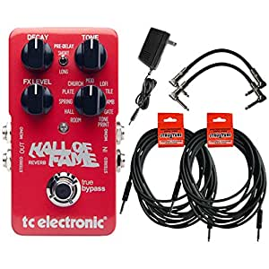 tc electronic hall of fame reverb guitar effects pedal bundle 960660001 musical. Black Bedroom Furniture Sets. Home Design Ideas
