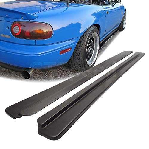 Speed Side Skirts (GT-Speed for 1990-1997 Mazda Miata NA MX5 Feed Style PU Side Skirts Extensions Under Panel Lip)