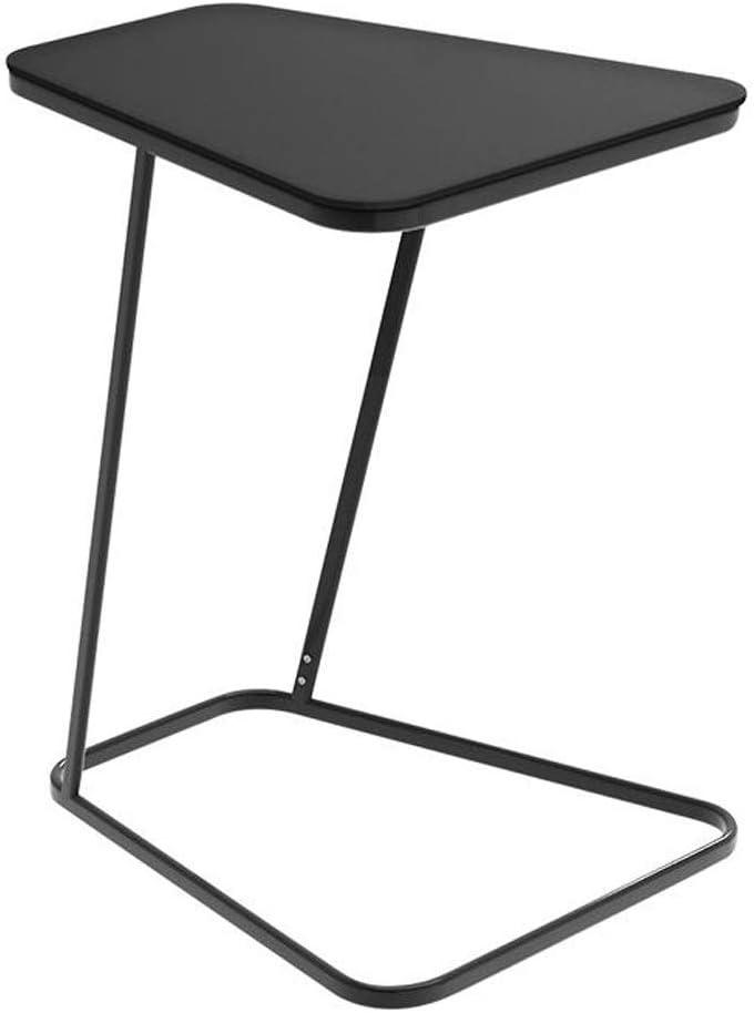 Nieuwe Manierstijl Van MBZL bijzettafel, koffietafel, C-vormige kleine bijzettafel, bijzettafel, salontafel van glas voor woonkamer, kantoor en slaapkamer zwart IevdmCw