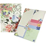 Punch Studio Sticky Pad Portfolio - Pink Blossom Birds 43010 by Molly & Rex