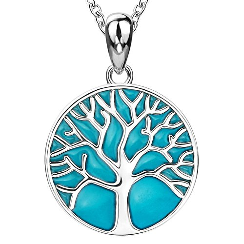 - Apotie Sterling 925 Silver Charms Tree of Life Glow Luck Pendant Necklaces Gift Jewelry for Women …