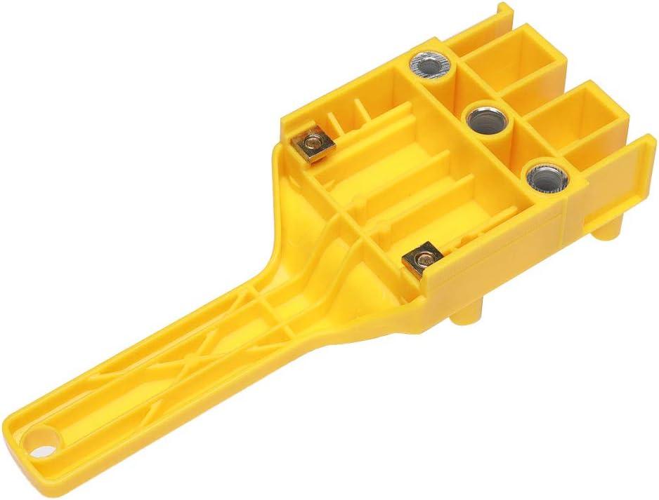 Perforadora de pl/ástico ABS plantilla para carpinter/ía 43 x 6,4 x 6,4 cm localizador de perforaci/ón de tablero de madera para instalaci/ón de hardware perforadora recta de pl/ástico