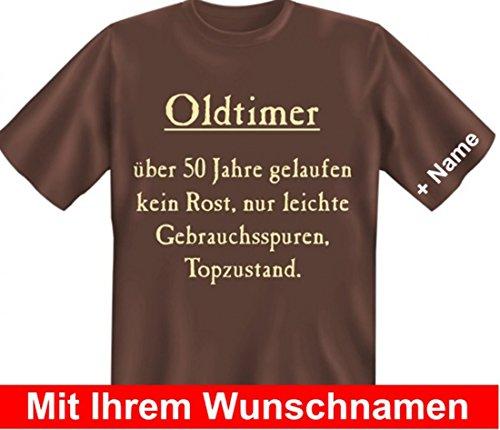 T-Shirt mit Namen - Oldtimer über 50 Jahre gelaufen, kein Rost... - 50. Geburtstag - Wunschnamen Geschenk