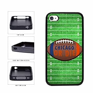 Chicago or Die Football Field TPU RUBBER SILICONE Phone Case Back Cover Apple iPhone 4 4s