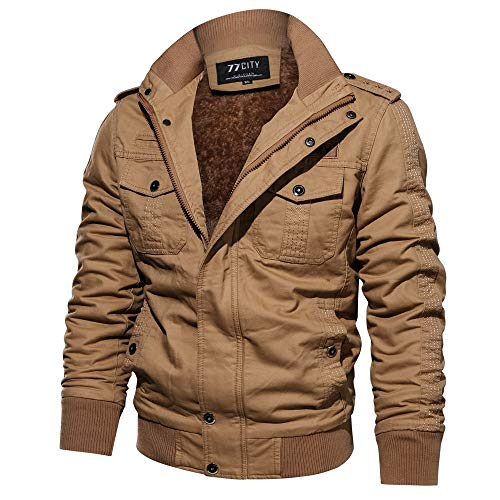 Hiver Décontracté Trench coat Travail Casual De Outwear Kaki Manteau Blousons subfamily Homme Faux Coat Jacket Manteau Blouson Fourrure Militaire Chaud Veste SO06dq