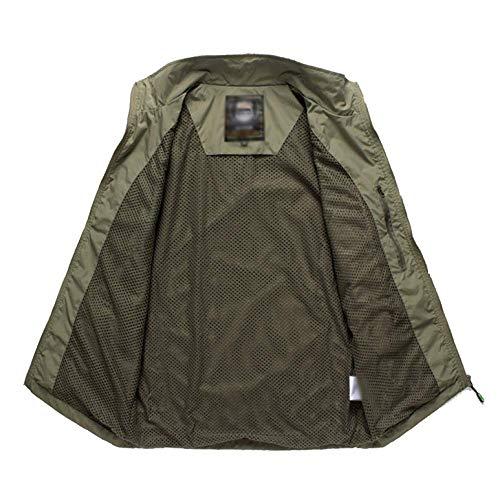 Uomo Da Coreano Pesca Maniche Senza Giacca Vestibilità Xdljl Multi taschino Outdoor Armygreen Rapida tIAxwXBcq