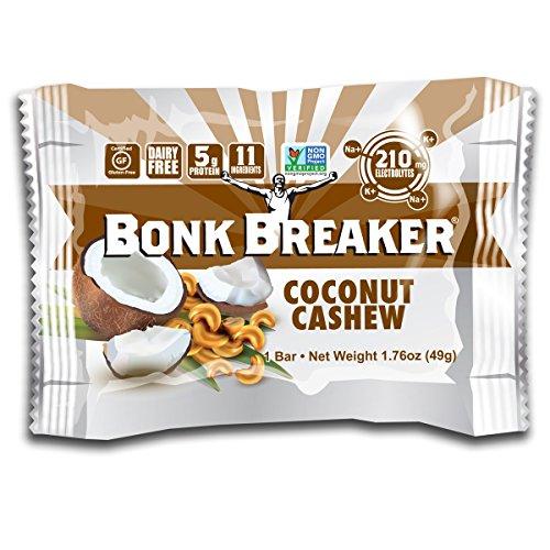 Bonk Breaker Coconut Cashew Energy Bar, 2.2 Ounce - 12 per case. by Bonk Breaker