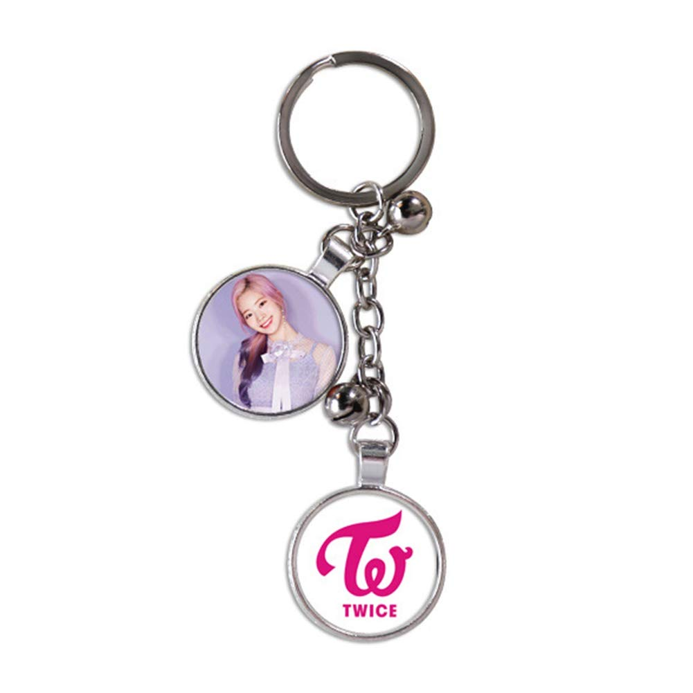 Youyouchard Kpop Twice Keychain Poster Album #TWICE2 UMGEBUNG Key Chain Key Rings for Fans Nayeon A Sheet of Twice Stickers Included