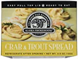 Alaska Smokehouse Crab & Trout Spread Serving Design, 3.5 Ounce Boxes (Pack of 6)