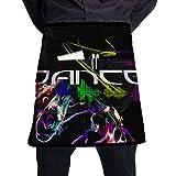 Kjiurhfyheuij Half Short Aprons Dance Design Waist Apron with Pockets Kitchen Restaurant for Women Men Server