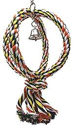 Bonka Bird Toys 1992 Medium Globe Rope Ring Swing Bird Toy parrot cage toys cages african grey