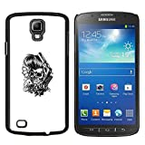 LECELL--Protective Case / Cover / Skin For Samsung Galaxy S4 Active i9295 -- Greaser Skull - Knuckles & Cards --