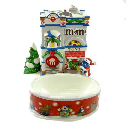 Department 56 M&M Holiday Toys House & Candy Bowl, Lighted House